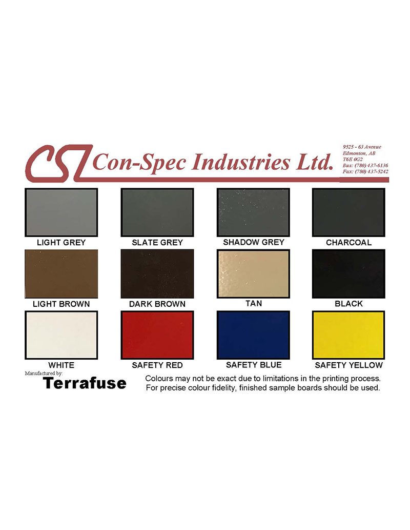 Colour charts con spec industries terrafuse solid colour chart geenschuldenfo Images