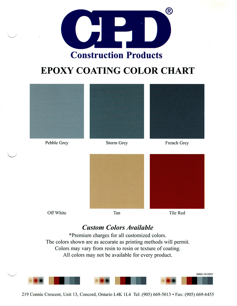 Colour charts con spec industries cpd epoxy colour chart geenschuldenfo Images