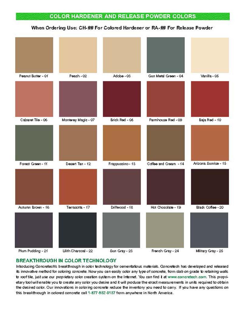 Colour charts con spec industries cct concrete release colour chart geenschuldenfo Images